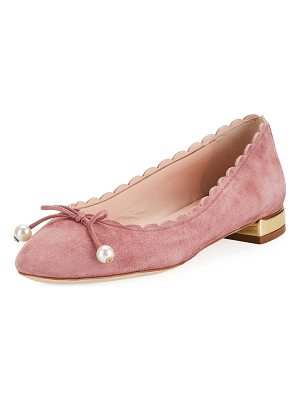 Kate Spade New York murray scalloped pearly-bow flat