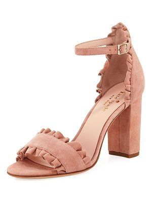 Kate Spade New York odele suede ruffle city sandal
