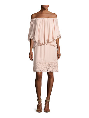 KOBI HALPERIN Veronica Off-the-Shoulder Silk Popover Dress