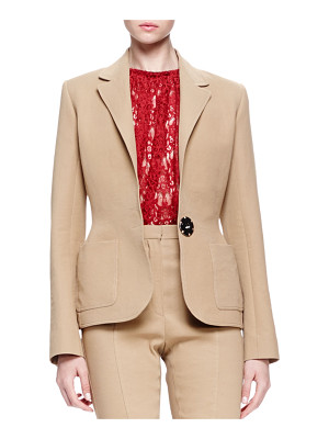 Lanvin Linen-Blend Patch-Pocket Blazer