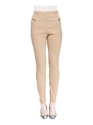 Lanvin Skinny Zip-Pocket Biker Pants