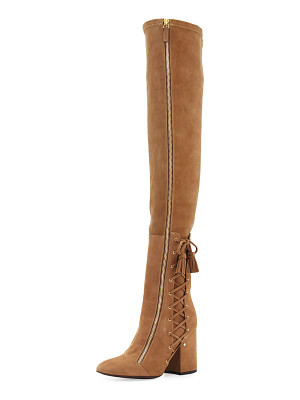 Laurence Dacade Suede Laced-Side Over-the-Knee Boot