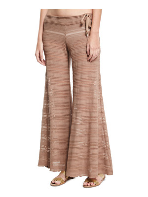 Letarte Crochet Lace Flare Beach Pants