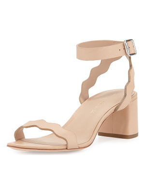 LOEFFLER RANDALL Emi Wavy Leather Ankle-Wrap Sandal