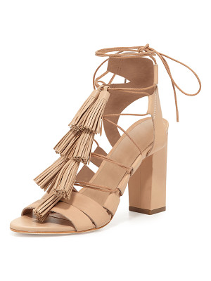 LOEFFLER RANDALL Luz Tassel Lace-Up Leather Sandal