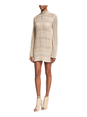 Magda Butrym Crocheted Tie-Neck Minidress