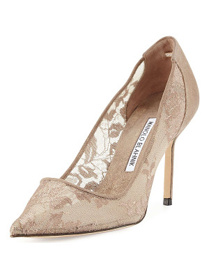 Manolo Blahnik BB Lace 90mm Pump