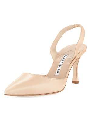 MANOLO BLAHNIK Carolyne Leather Mid-Heel 70mm Halter Pump