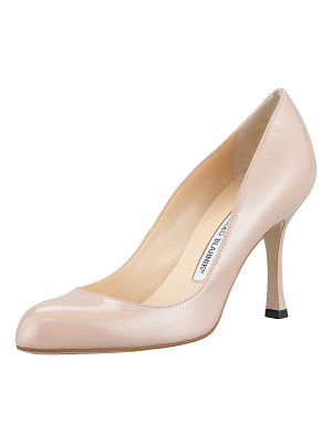 MANOLO BLAHNIK Foka Almond-Toe Patent Leather Pump