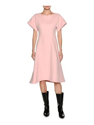 MARNI Short-Sleeve Crepe A-Line Swing Dress