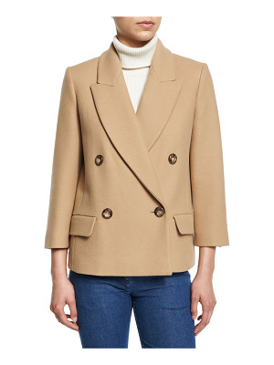 Michael Kors Collection Single-Breasted Long Sleeve Blazer