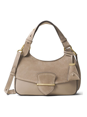 MICHAEL KORS COLLECTION Josie Medium Suede & Leather Shoulder Bag