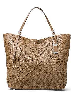 MICHAEL KORS Hutton Large Woven Leather Tote Bag