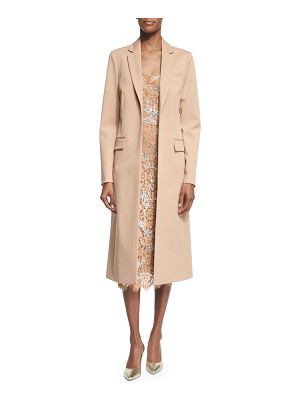 Michael Kors Long Open-Front Wool Coat