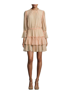 MICHAEL KORS Long-Sleeve Tiered Ruffle Dress