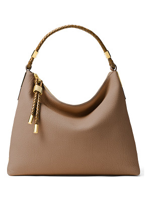 MICHAEL KORS Skorpios Woven-Trim Hobo Bag