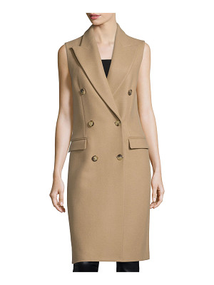 Michael Kors Sleeveless Double-Breasted Coat