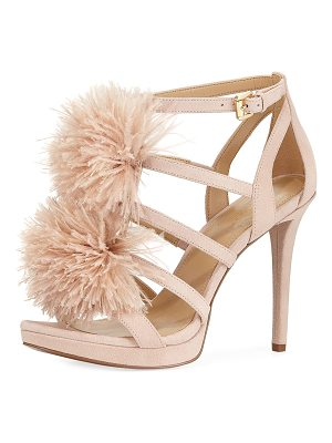 MICHAEL MICHAEL KORS Fara Suede Feather Pouf Sandal