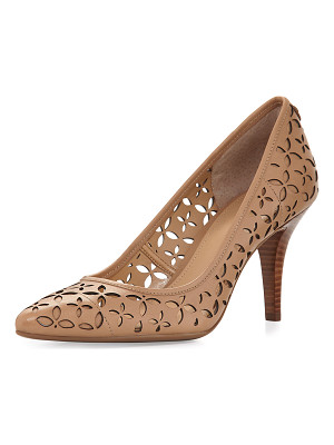 MICHAEL MICHAEL KORS Flex Laser-Cut Leather Mid-Heel Pump