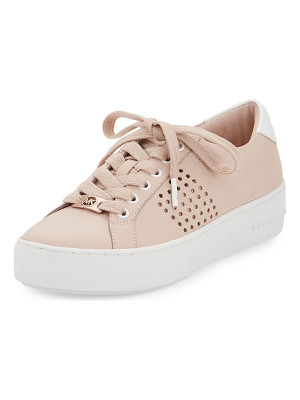 MICHAEL Michael Kors Poppy Perforated Leather Low-Top Sneaker