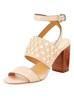 MICHAEL MICHAEL KORS Valencia Studded Leather Sandal