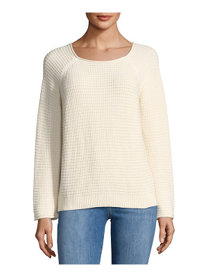 M.i.h Jeans Opening Waffle-Knit Tieback Sweater