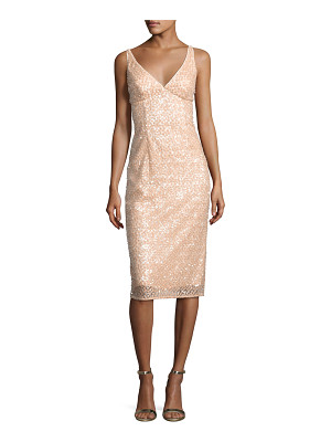 Milly Liz Sleeveless Sequined Floral Cocktail Dress
