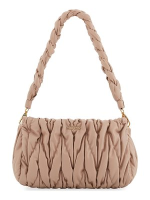 MIU MIU Matelasse Leather Tote Bag