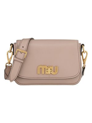 MIU MIU Smooth Turn-Lock City Shoulder Bag