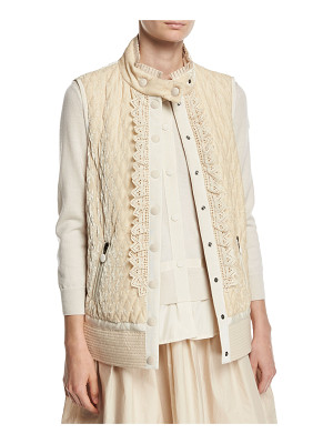 MONCLER Marianne Mixed-Media Belted Jacket