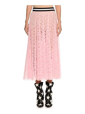 MSGM Lace A-Line Midi Skirt