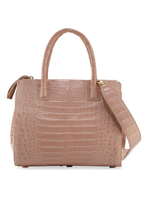 NANCY GONZALEZ Crocodile Medium Double-Zip Tote Bag