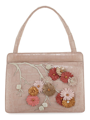 NANCY GONZALEZ Small Cherry Blossom Top-Handle Bag