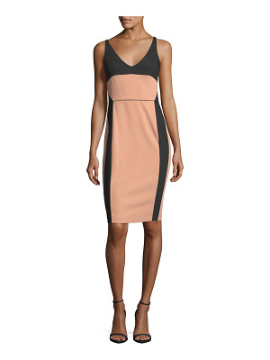 NARCISO RODRIGUEZ Bicolor Scoop-Neck Sleeveless Dress