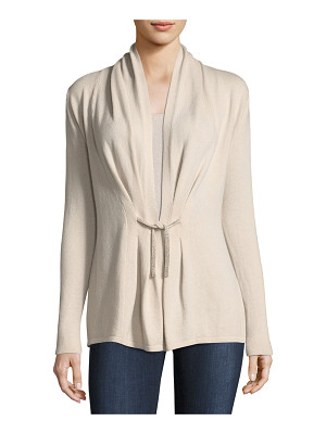 Neiman Marcus Cashmere Collection Chain-Tie Cashmere Cardigan