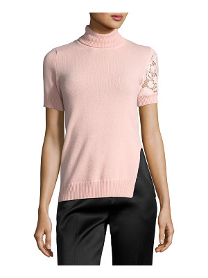No. 21 Juana Turtleneck Short-Sleeve Knit Sweater