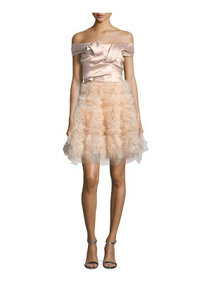 Notte by Marchesa Mikado Bodice Cocktail Dress