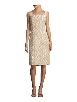 OSCAR DE LA RENTA Scoop-Neck Sleeveless Dress