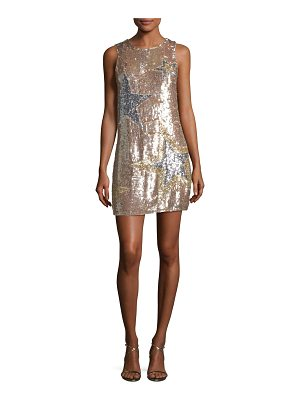 Parker Allegra Sleeveless A-line Sequined Cocktail Dress