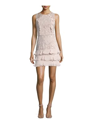 PARKER Zahara Combo Sleeveless Lace Cocktail Dress