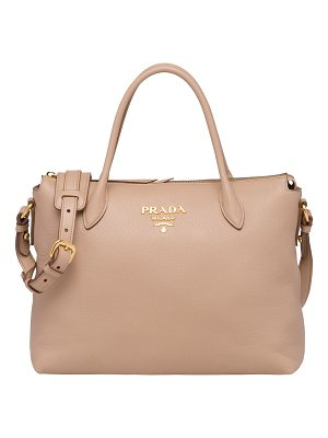 Prada Daino Medium Leather Tote Bag