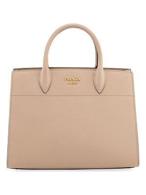 Prada Large Bibliotheque Saffiano & City Calf Bag
