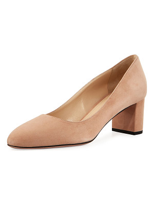 PRADA Suede 55mm Block-Heel Pump