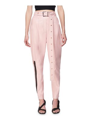 Proenza Schouler Belted Leather Carrot Pants
