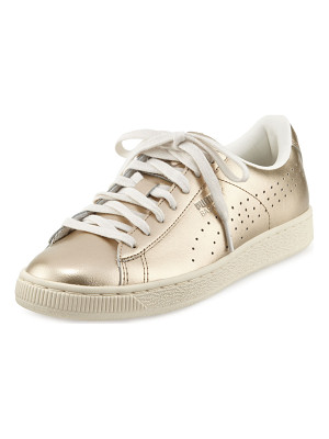 PUMA Basket Classic Citi Metallic Low-Top Sneaker