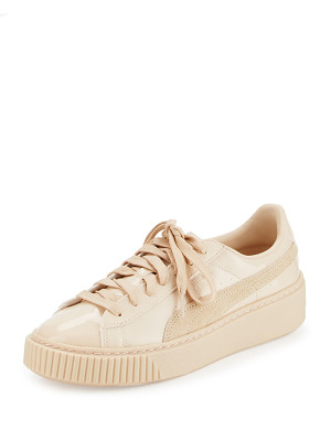 PUMA Basket Patent Platform Low-Top Sneaker