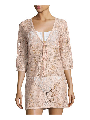 QUEEN & PAWN Venus Sheer Lace Coverup Tunic