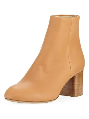 RAG & BONE Drea Napa Leather Mid-Heel Ankle Boot