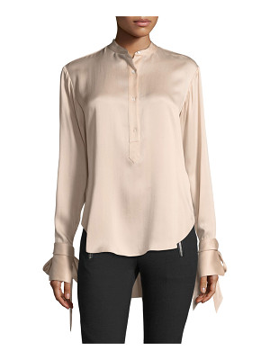 RAG & BONE Dylan Button-Front Silk Charmeuse Blouse