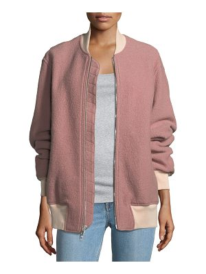 RAG & BONE Elle Zip-Front Virgin Wool Bomber Jacket